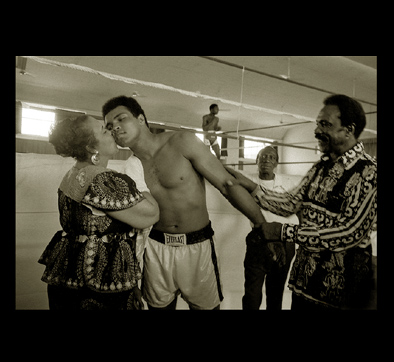 Cassius Clay Boxing Photograph with Momma Clay.
